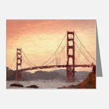 golden gate bridge thank you cards golden gate bridge note cards