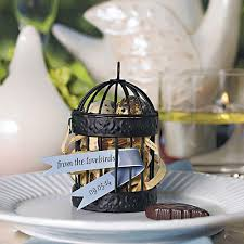 wedding favor containers small black birdcage favor containers the knot shop