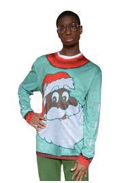 black santa ugly christmas sweater shirt for adults