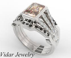 engagement rings set morganite engagement ring set vidar jewelry unique custom