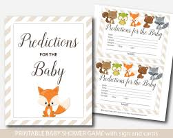 fox predictions for the baby with cards and sign woodland fox