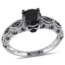 white gold diamond ring 1 25 carat t w black diamond 10 k white gold engagement ring