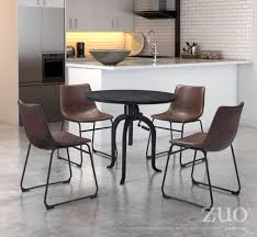Zuo Floor L Lincoln Dining Table By Zuo Modern Modern Dining Table Cressina