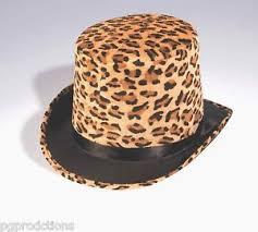 mardi gras hat mardi gras leopard print top hat animal cap magic circus