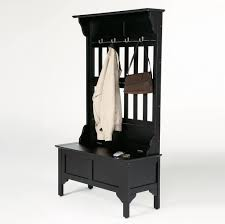 furniture leather entryway bench with coat rack and shoes storage