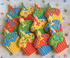 cupcake cookies rainbow colours make as thin brownies