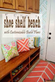 shoe shelf bench her tool belt