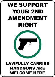ansi z535 table 130 7 f we support your 2nd amendment right sign f7173 by safetysign com