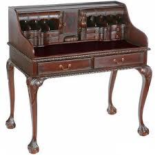 bureau style anglais secretaire style anglais chippendale en acajou massif bureau