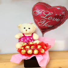 teddy in a balloon gift singapore flower shop florists singapore flowers gifts to