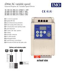 imo 1hp 3 phase digital inverter converter 110v 1 phase input