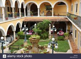 interior courtyard and restaurant of the hotel caribe merida
