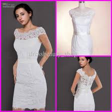 2013 lace bateau neckline sheath beach wedding dresses short