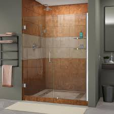 800 Pivot Shower Door by Dreamline Unidoor 53 To 54 In X 72 In Frameless Hinged Pivot