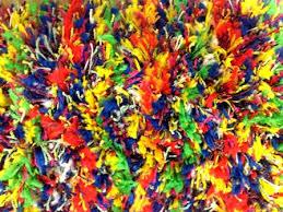 8x8 Shag Rug Confetti Shag Rug Multi