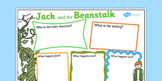 jack and the beanstalk writing frames and aids primary page 1