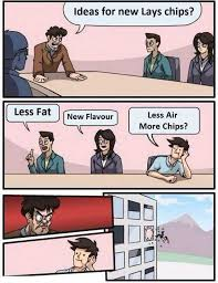 Lays Chips Meme - dopl3r com memes ideas for new lays chips less fatnew flavour