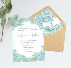 mint wedding invitations succulent wedding invitations succulent bridal shower