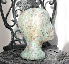 mannequin head boho hippie shabby chic vintage shop display home