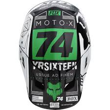 monster motocross helmets new fox racing 2017 mx v2 union le white black green dirt bike