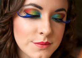 parrot makeup halloween without the eyelashes love to try