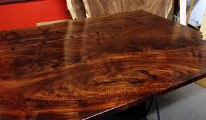 Walnut Slab Table by A Claro Walnut Slab And Rebar Dining Table By Dan Mosheim