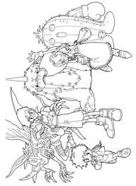manga digimon coloring pages kids printable free coloring