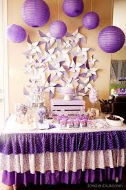 backdrop for baby shower table pretty purple party dessert table backdrops and lilacs