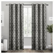 3 Panel Window Curtains Cartago Insulated Woven Blackout Grommet Top Window Curtain Panel