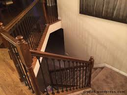 Wrought Iron And Wood Banisters Replacing Wood Balusters With Wrought Iron Sort Of Diy Dad