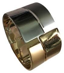 gold silver cuff bracelet images Lanvin vintage gold silver cuff bracelet tradesy jpg