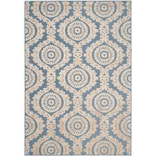 Safavieh Outdoor Rugs Safavieh Monroe Blue 5 Ft 3 In X 7 Ft 7 In Indoor Outdoor Area