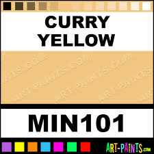 curry yellow powder casein milk paints min101 curry yellow