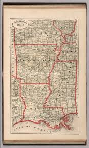 County Map Of Mississippi New Rail Road And County Map Of Arkansas Louisiana And