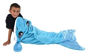amazon com snuggie tails dolphin blanket for kids home u0026 kitchen