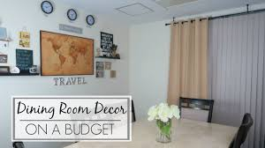 dining room decor on a budget travel themed gallery wall ft dining room decor on a budget travel themed gallery wall ft onlyyou window treatments