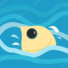 cute fish jumping from water in retro style u2014 stock vector