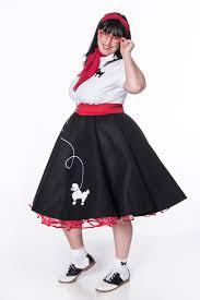 hip hop 50s shop womens 8 pc black w red poodle skirt