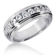 mens diamond wedding band 18k gold men s diamond wedding band 0 84ct