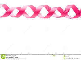 pink ribbon border clip clipart