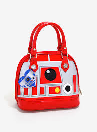 loungefly star wars r2 r9 valentine u0027s day patent dome bag