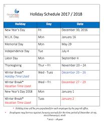 2017 2018 schedule