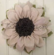burlap sunflower wreath soft white burlap sunflower wreath the crafty wineaux