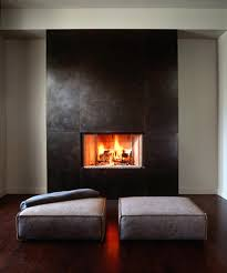 houzz white stone fireplace glass tile painted living room modern