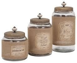 kitchen canisters and jars carley lidded glass jars 3 set farmhouse kitchen