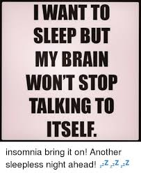 Insomnia Meme - i want to sleep but my brain won t stop talking to itself insomnia