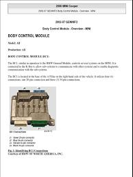 body control module mini cooper headlamp relay