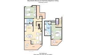 St Thomas Suites Floor Plan by Club Wyndham Wyndham Resort At Fairfield Sapphire Valley
