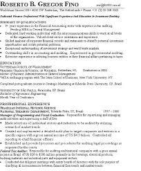 Mba Finance Experience Resume Samples by Banker Resume Example