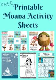 free printable moana activity sheets coloring pages clever